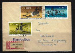 DDR - RECO-Beleg Mi-Nr. 1753 + 1757 + 1758 Olympische Sommerspiele München - [6] Democratic Republic