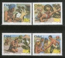 Ciskei 1990 Folklore Legend Of Five Heads Snake Reptiles Sc 147-50 MNH # 2013 - Snakes
