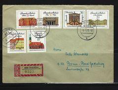 DDR - RECO-Beleg Mi-Nr. 1661 - 1666 Bedeutende Bauwerke - [6] Democratic Republic