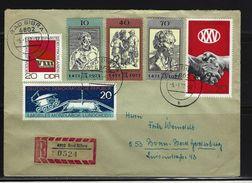 DDR - RECO-Beleg Mi-Nr. 1679 + 1667 + 1659 + 1672 - 1674 - [6] Democratic Republic