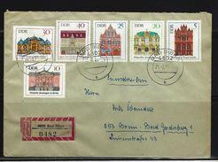 DDR - RECO-Beleg Mi-Nr. 1434 - 1439 Bedeutende Bauwerke - [6] Democratic Republic