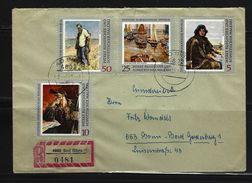 DDR - RECO-Beleg Mi-Nr. 1528 + 1529 + 1531 + 1533 Kunstsammlungen Dresden - [6] Democratic Republic