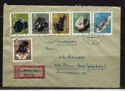 DDR - RECO-Beleg Mi-Nr. 1468 - 1473 Minerale - [6] Democratic Republic