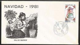 A) 1981 MEXICO, CHRISTMAS, HANDICRAFT TONALA, PASTOR BOY, MOTHER, BIRD OF PEACE, MEXICO EXPORTS, FDC. - Mexico