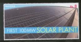 Pakistan 2015 1st 100 Mega Watt Solar Power Plant Energy Electricity MNH # 13178 - Electricity