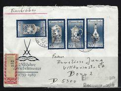DDR - RECO-Beleg Mi-Nr. 3241 - 3244 Meissner Porzellan - [6] Democratic Republic