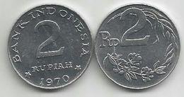 Indonesia 2 Rupiah 1970.  KM#21 High Grade - Indonesia
