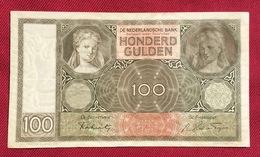 NETHERLANDS 100 GULDEN,1941. HIGH QUALITY - [2] 1815-… : Kingdom Of The Netherlands