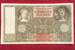 NETHERLANDS 100 GULDEN,1944. HIGH QUALITY - [2] 1815-… : Kingdom Of The Netherlands
