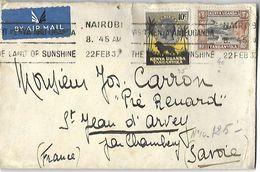 Lettre Du Kenya Par Avion   Du  22 Février 1937  De Nairobi Vers St Jean D' Arvey (Savoie) - Kenya (1963-...)