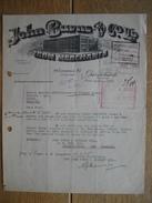NEW ZEALAND - CHRISTCHURCH - JOHN BURNS & C° Ld. - Iron Merchants - Factures & Documents Commerciaux