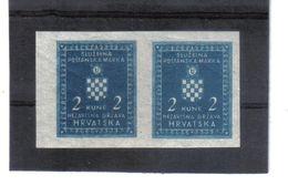 GUT1180  KROATIEN (HRVATSKA) 1942 DIENST  MICHL 4 U Im PAAR Mit ABKLATSCH ** Postfrisch  Siehe ABBILDUNG - Kroatien