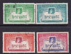 Vietnam South Scott 128-131 1960 1st Anniversary Of Family Code Used Set - Vietnam