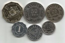 Belize 2000 / 2010. UNC Set Of  6 Coins - Belize