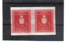 GUT1187  KROATIEN (HRVATSKA) 1942 DIENST  MICHL 6 DRUCKFEHLER Im PAAR ** Postfrisch  Siehe ABBILDUNG - Kroatien
