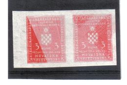 GUT1190  KROATIEN (HRVATSKA) 1942 DIENST  MICHL 6 DRUCKFEHLER Im PAAR ** Postfrisch  Siehe ABBILDUNG - Kroatien