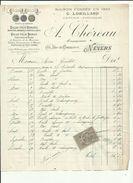 Facture Timbre Fiscal 10 Ct De LORILLARD-Fonde 1830Coiffeur_A CHEREAU SUCC A NEVERS  Adresse A Mr GUILLOT A NEVERS  1890 - France