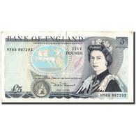 Grande-Bretagne, 5 Pounds, Undated (1971-91), KM:378e, TTB - 1952-… : Elizabeth II