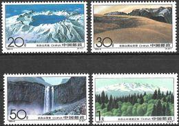 Chine / China (1993) - Monts Changbai. Cratère Volcan. Cascade. MNH. - Neufs