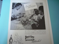 ANCIENNE PUBLICITE AMOUR UNANIME PERRIER  1937 - Posters