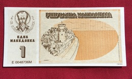 MACEDONIA 1 MAKEDONKA 1992 HIGH QUALITY, RARE - Macédoine