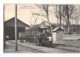 CPA 02 Saint Gobain Le Depot Des Tramway Ligne De Tergnier St Gobain Anizy Pinon - Other Municipalities