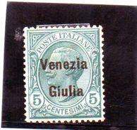 B - 1918 Italia - Venezia Giulia - Francobollo D'Italia Del 1901/18 - Soprastampato (linguellato) - Occupation 1ère Guerre Mondiale
