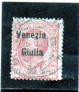 B - 1918 Italia - Venezia Giulia - Francobollo D'Italia Del 1901/18 - Soprastampato - Occupation 1ère Guerre Mondiale