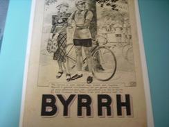 ANCIENNE PUBLICITE TOUR DE FANCE VELO BYRRH  1937 - Alcools