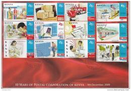 2009 Kenya Postal Workers Trucks Philately Complete Set Of  12 First Day Cover  Used - Kenya (1963-...)
