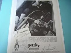 ANCIENNE PUBLICITE SES 2 AMOURS SON VELO ET SON PERRIER  1937 - Perrier