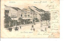 HANOI  Rue Paul Bert (timbre Décollé ; Taches ) - Viêt-Nam