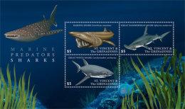 St. Vincent And The Grenadines 2017 Fauna Flora Marine Life Sharks -I70113 - Marine Life