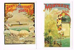 18x Cartes Postales -Plakatsammlung - Affiche - Suisse - Schweiz - Vevey - Montreux - Flugtag - ... - Zwitserland