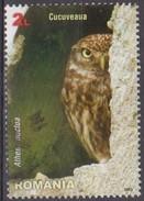 Romania, 2013 - 2l Athene Noctua - Nr.5460 Usato° - 1948-.... Repubbliche