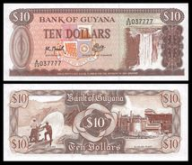 Guyana 10 DOLLARS Sign 9 ND 1992 P 23f UNC - Guyana