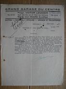 ESCH-SUR-ALZETTE - Lettre 1947- GRAND GARAGE DU CENTRE - Propr. VICTOR LEMMER - Autos, Motos, Cycles, Armes & Munitions - Luxembourg
