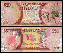 Guyana 50 DOLLARS 2016 P NEW UNC - Guyana