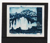 GUT1346  KROATIEN (HRVATSKA) 1941 MICHL 48 Geschnitten  GUMMISEITIG Mit ABKLATSCH** Postfrisch  Siehe ABBILDUNG - Kroatien