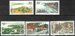 Chine / China (1995) - Lac Taihu : Les 4 Saisons : Printemps, été, Automne, Hiver. MNH. - Neufs