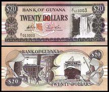 Guyana 20 DOLLARS Sign 11 ND 1996 P 30b UNC - Guyana
