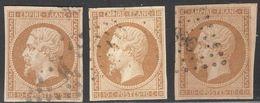 France Yvert 13B,13B A,13B B Oblit. TB Sans Défaut Cote EUR 155 (numéro Du Lot 265C) - 1853-1860 Napoleone III