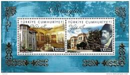 Turkey - 2013 - Turkish Palaces - Yildiz Palace - Mint Souvenir Sheet With Golden Embossing - 1921-... République