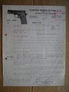 """HABANA (CUBA) - COMPANIA ARMERA DE CUBA - Pistola """"STAR"""" - Fatture & Documenti Commerciali"""