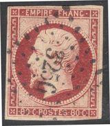 France Yvert 17A Carmin Oblit.TB/Luxe Sans Défaut Cote EUR 60+  (numéro Du Lot 268C) - 1853-1860 Napoléon III