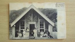NEW ZELAND NUOVA ZELANDA  POST CARD FROM PIPIRIKI MAORI CHURCH USED SEND - Nuova Zelanda