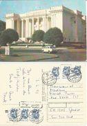 Tadjikistan Dushanbe Central Committee Bldg + Car Color Pcard USSR Era From Samarkand 4jun1992 To Italy - Tajikistan