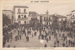 30 // GALLARGUES     Fin De La Course,   TAUREAUX   TAUROMACHIE  ** - Gallargues-le-Montueux