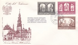 Vatikan FDC/ET 1966, Mi:502+505+507 .1000 Jahre Christentum In Polen. Hl. Herzogin Dabrowkw,Hedwig, Papst.Paul.VI - Vatican