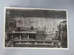 CPA PHOTO 01 GENISSIAT ELEVATION BARRAGE USINE VUE D'AVAL ET BASSIN DE FUITE 1948 - Génissiat